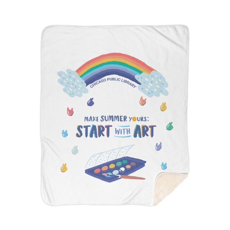 Summer 2021 - Rainbow Paint Home Blanket by Chicago Public Library Artist Shop