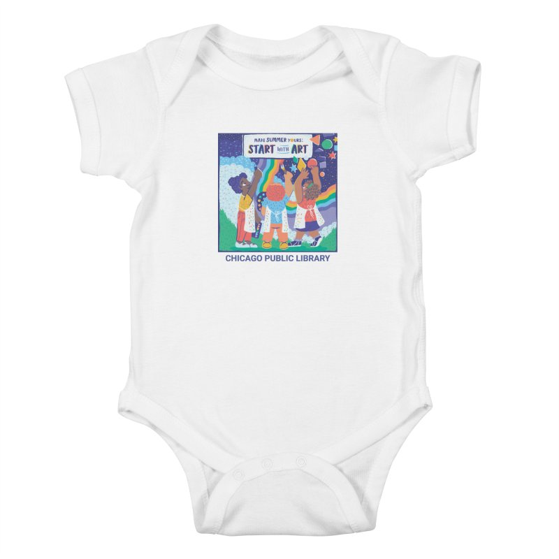 Summer 2021 - Little Kids Kids Baby Bodysuit by Chicago Public Library Artist Shop