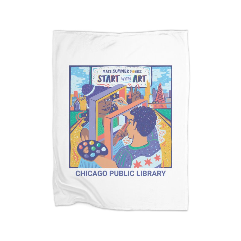 Summer 2021 - Start with Art Cover Art Home Blanket by Chicago Public Library Artist Shop
