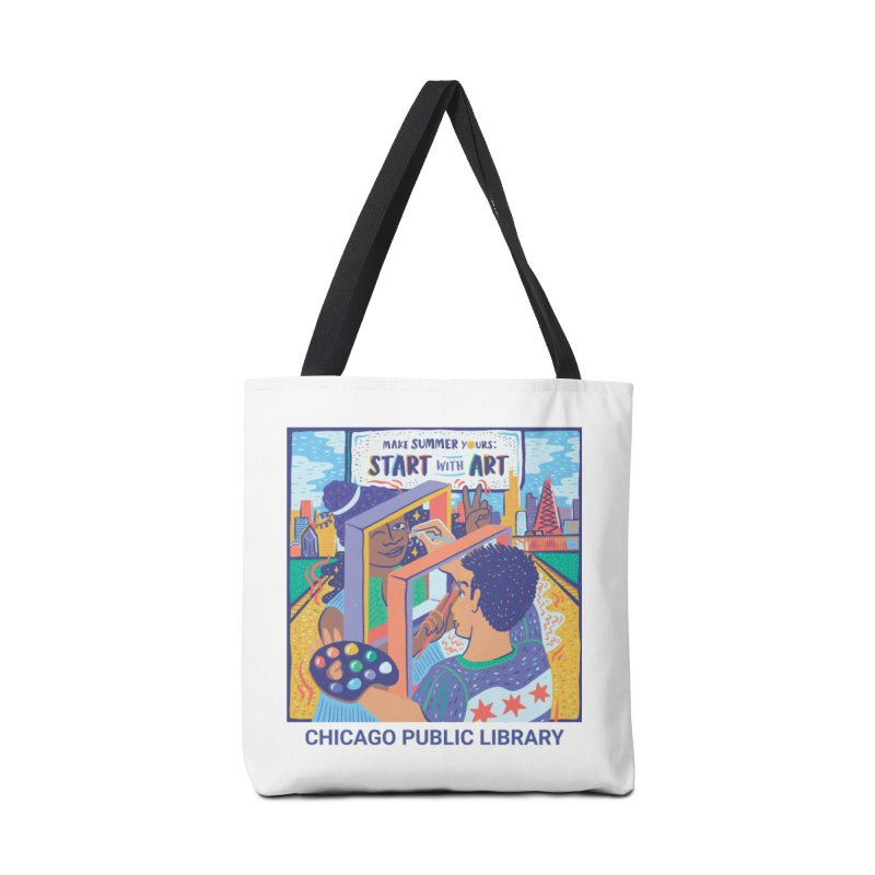 Summer 2021 - Start with Art Cover Art Accessories Bag by Chicago Public Library Artist Shop