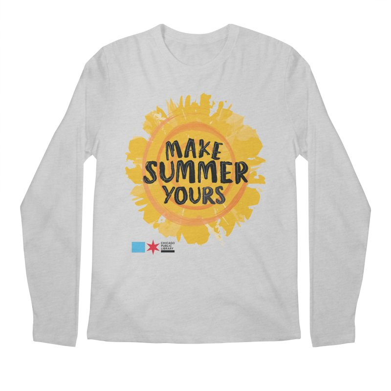 Summer 2021 - Make Summer Yours Sun Men's Longsleeve T-Shirt by Chicago Public Library Artist Shop
