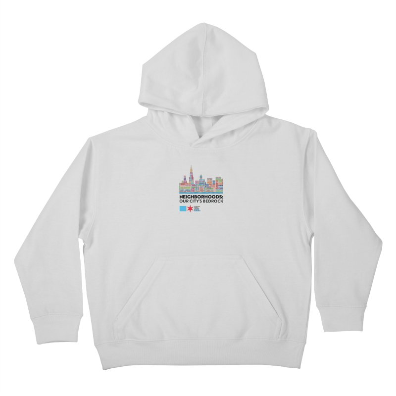 One Book, One Chicago 2021 City Neighborhoods Skyline Kids Pullover Hoody by Chicago Public Library Artist Shop