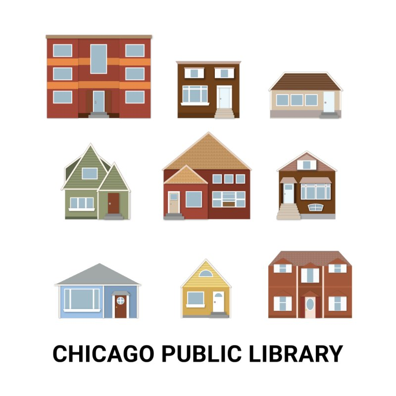 One Book, One Chicago 2021 Houses Kids Pullover Hoody by Chicago Public Library Artist Shop