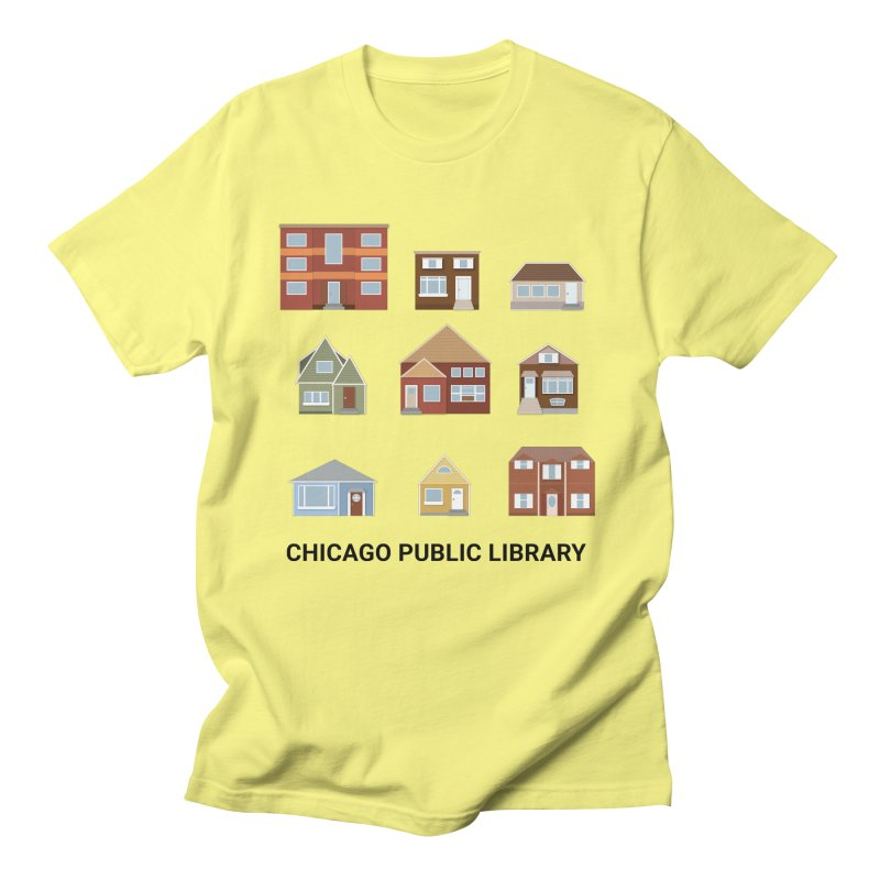 One Book, One Chicago 2021 Houses Men's T-Shirt by Chicago Public Library Artist Shop