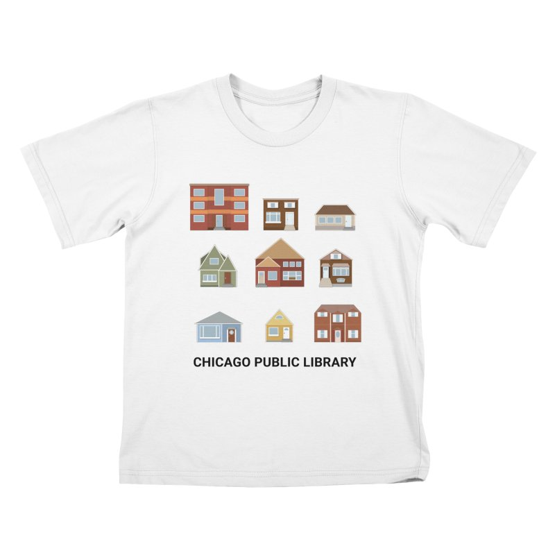 One Book, One Chicago 2021 Houses Kids T-Shirt by Chicago Public Library Artist Shop