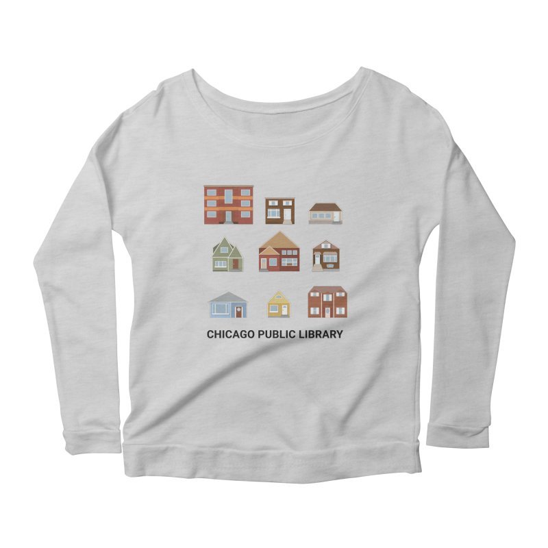 One Book, One Chicago 2021 Houses Women's Longsleeve T-Shirt by Chicago Public Library Artist Shop
