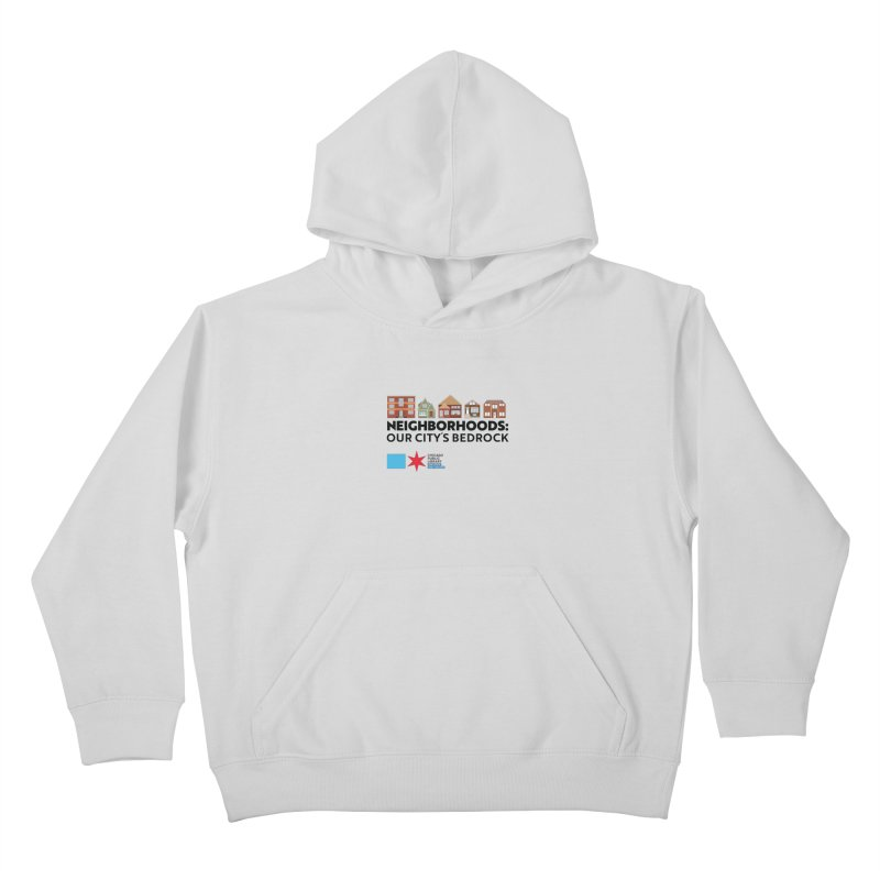 One Book, One Chicago 2021 Neighborhoods Tagline Kids Pullover Hoody by Chicago Public Library Artist Shop