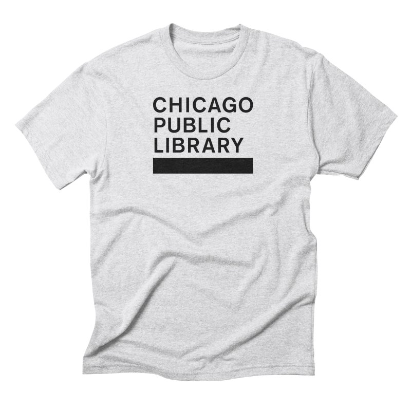 CPL Master Brand Logo Men's Triblend T-Shirt by Chicago Public Library Artist Shop