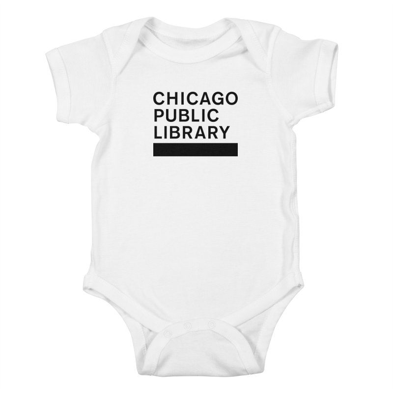 CPL Master Brand Logo Kids Baby Bodysuit by Chicago Public Library Artist Shop