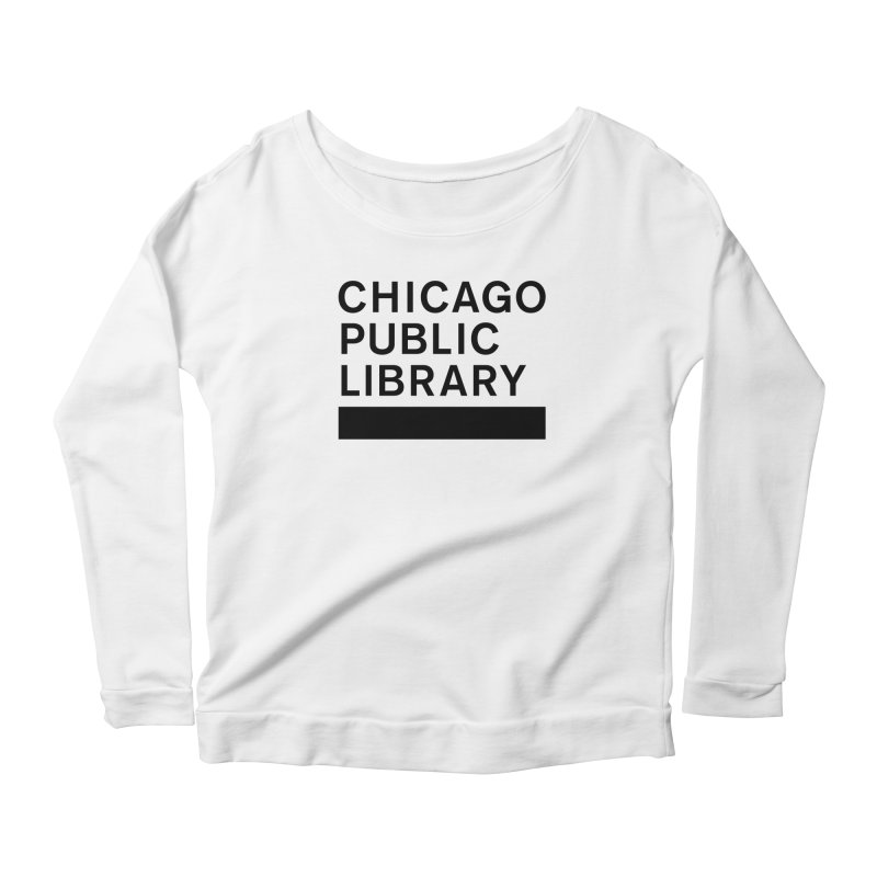 CPL Master Brand Logo Women's Scoop Neck Longsleeve T-Shirt by Chicago Public Library Artist Shop