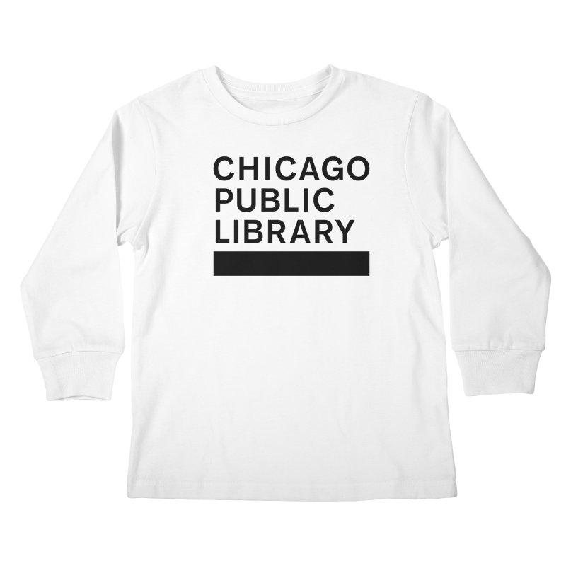 CPL Master Brand Logo Kids Longsleeve T-Shirt by Chicago Public Library Artist Shop