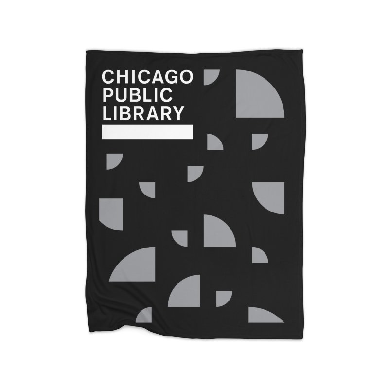 CPL Open Book Motif Home Blanket by Chicago Public Library Artist Shop