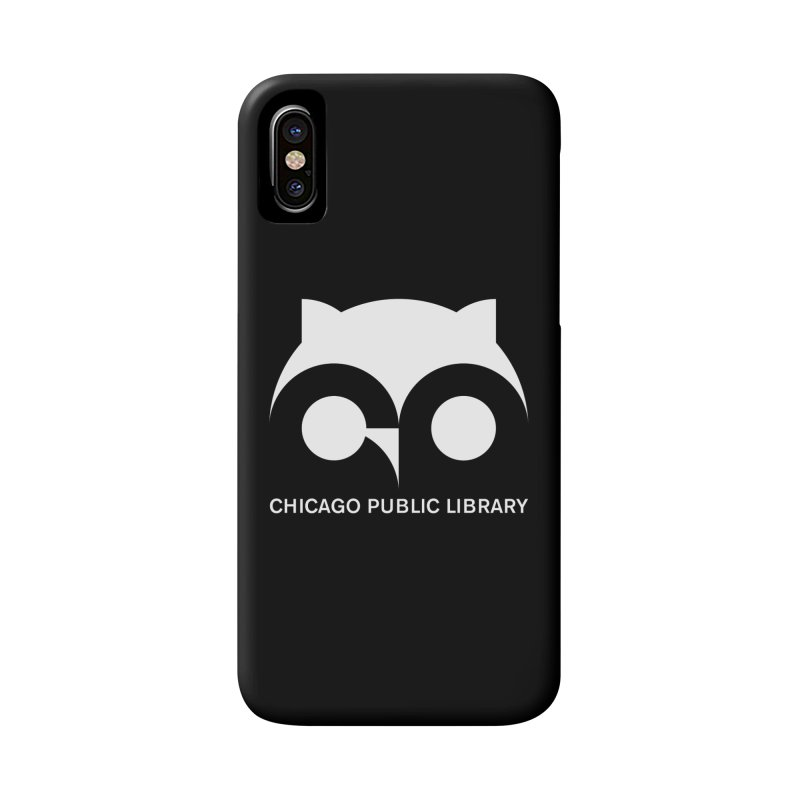 CPL Owl Reverse Accessories Phone Case by Chicago Public Library Artist Shop