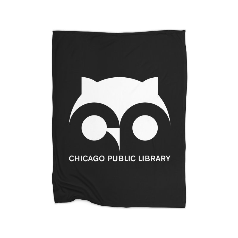 CPL Owl Reverse Home Blanket by Chicago Public Library Artist Shop