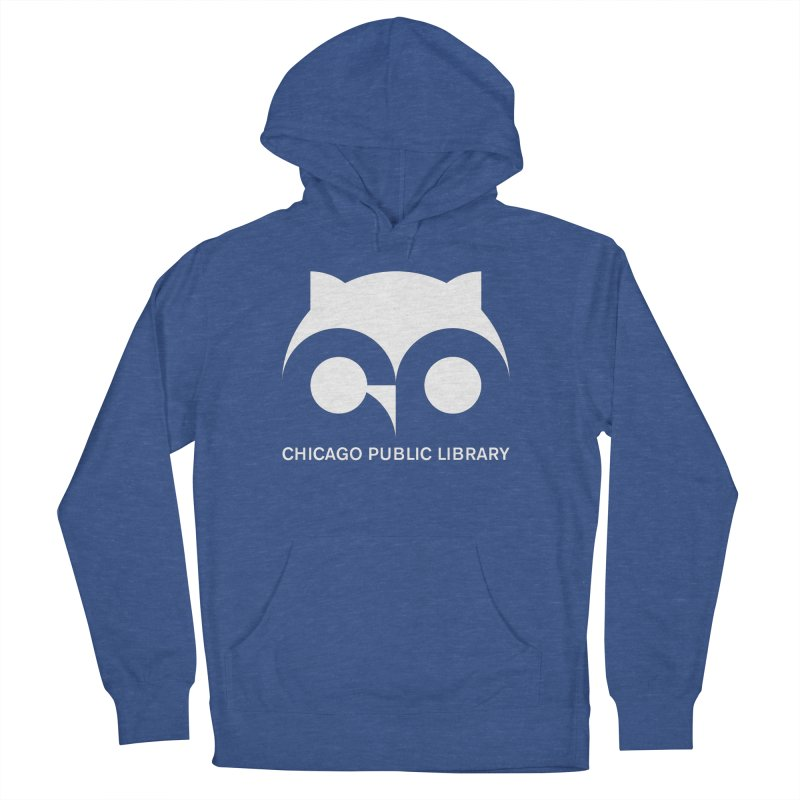 CPL Owl Reverse Men's French Terry Pullover Hoody by Chicago Public Library Artist Shop