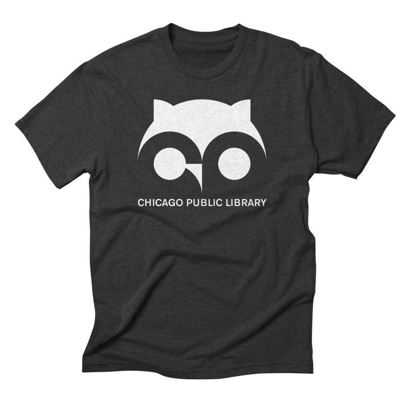CPL Owl Reverse Men's Triblend T-Shirt by Chicago Public Library Artist Shop
