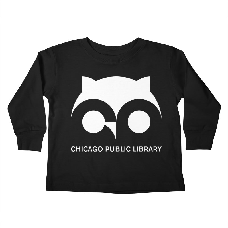 CPL Owl Reverse Kids Toddler Longsleeve T-Shirt by Chicago Public Library Artist Shop