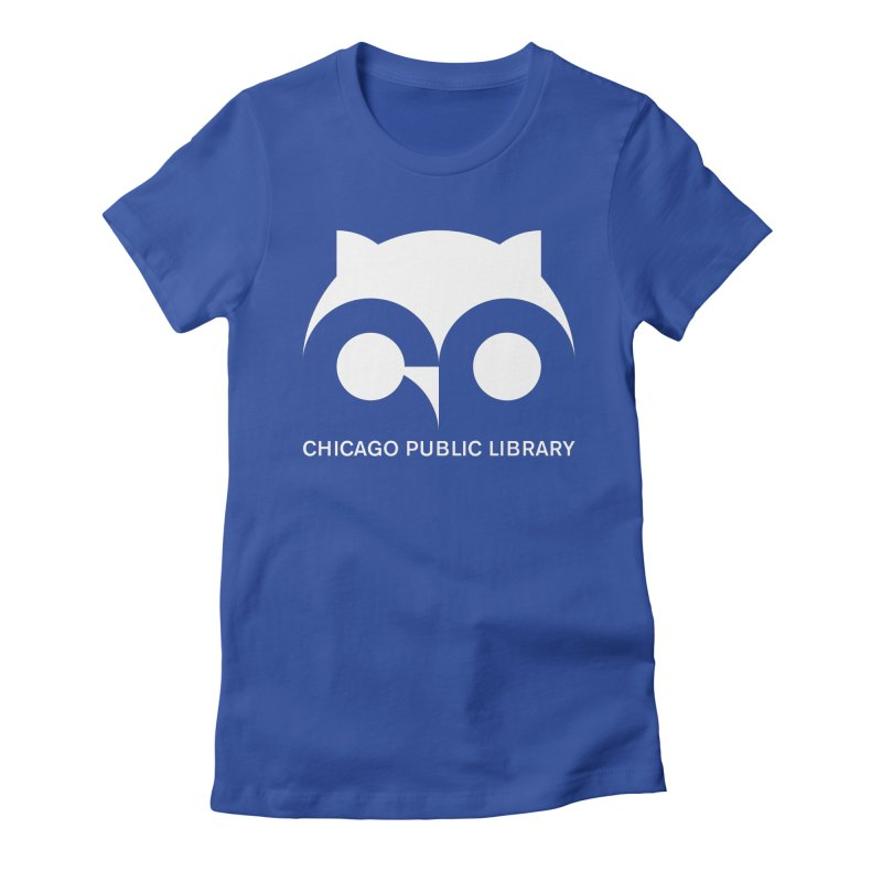 CPL Owl Reverse Women's Fitted T-Shirt by Chicago Public Library Artist Shop