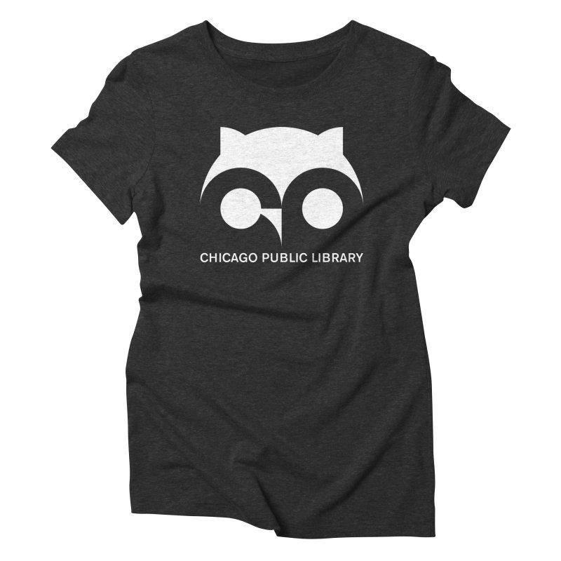 CPL Owl Reverse Women's Triblend T-Shirt by Chicago Public Library Artist Shop