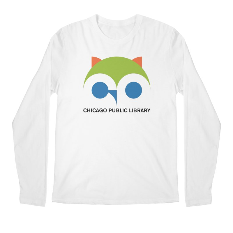 CPL Owl Men's Regular Longsleeve T-Shirt by Chicago Public Library Artist Shop
