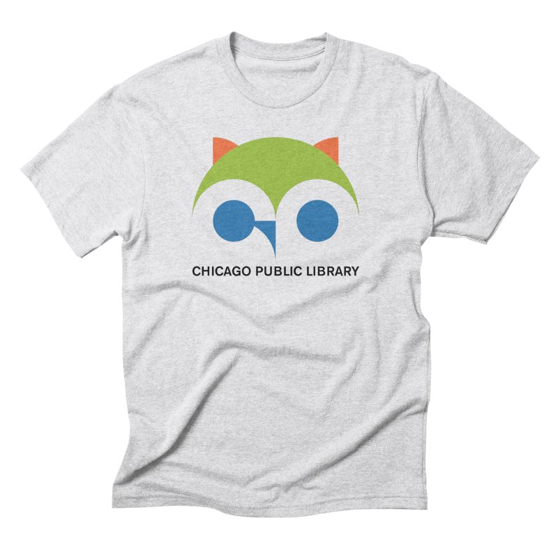 CPL Owl Men's Triblend T-Shirt by Chicago Public Library Artist Shop
