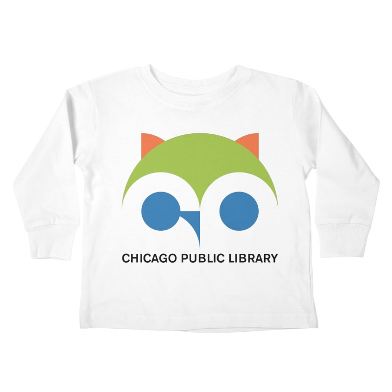 CPL Owl Kids Toddler Longsleeve T-Shirt by Chicago Public Library Artist Shop