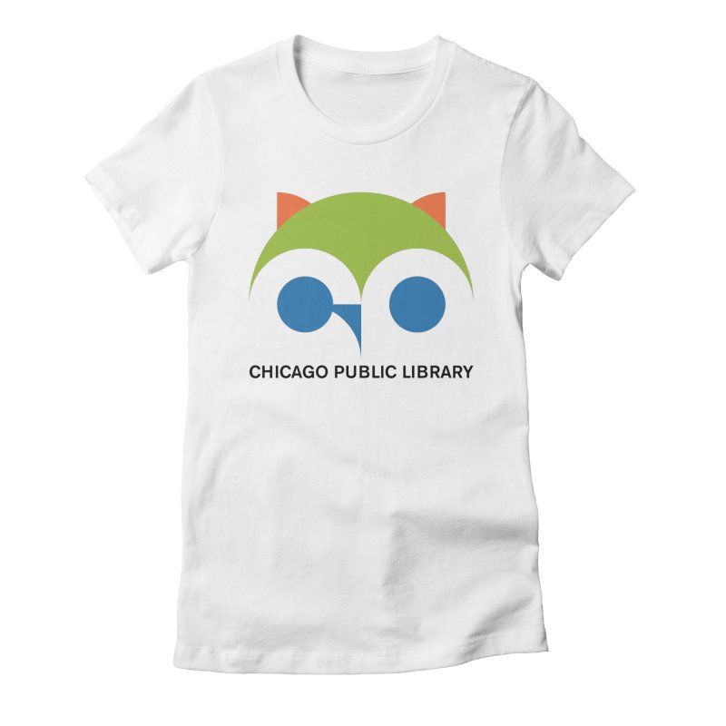 CPL Owl Women's Fitted T-Shirt by Chicago Public Library Artist Shop