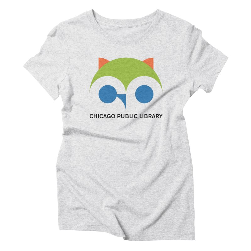 CPL Owl Women's Triblend T-Shirt by Chicago Public Library Artist Shop