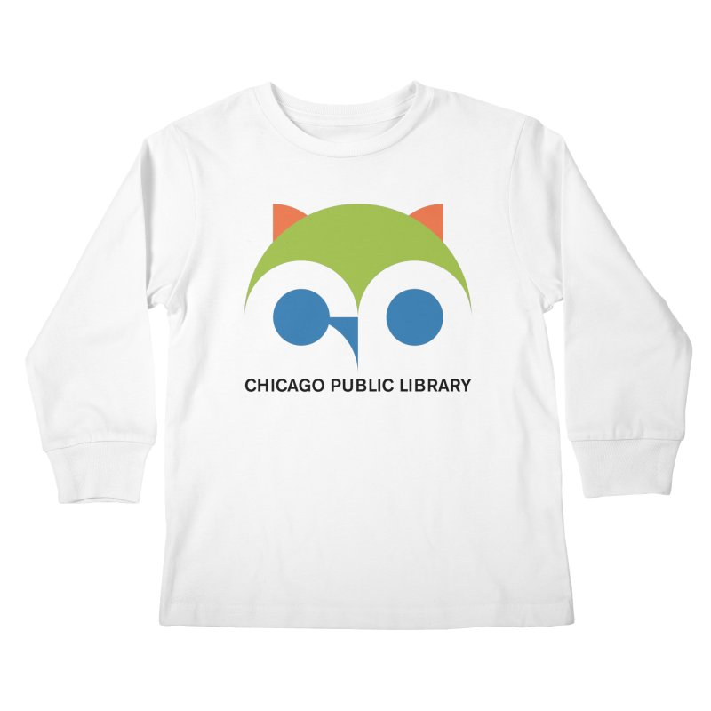 CPL Owl Kids Longsleeve T-Shirt by Chicago Public Library Artist Shop