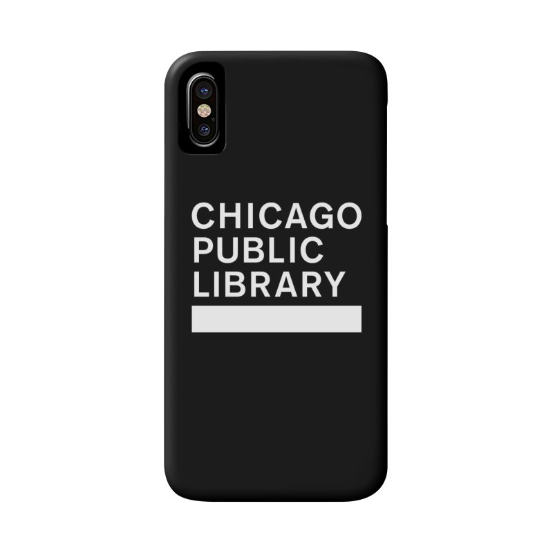 CPL Master Logo Reverse Accessories Phone Case by Chicago Public Library Artist Shop