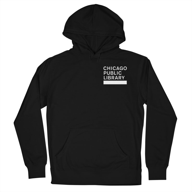 CPL Master Logo Reverse Men's French Terry Pullover Hoody by Chicago Public Library Artist Shop