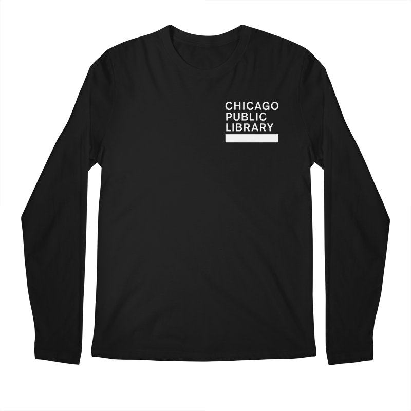 CPL Master Logo Reverse Men's Regular Longsleeve T-Shirt by Chicago Public Library Artist Shop