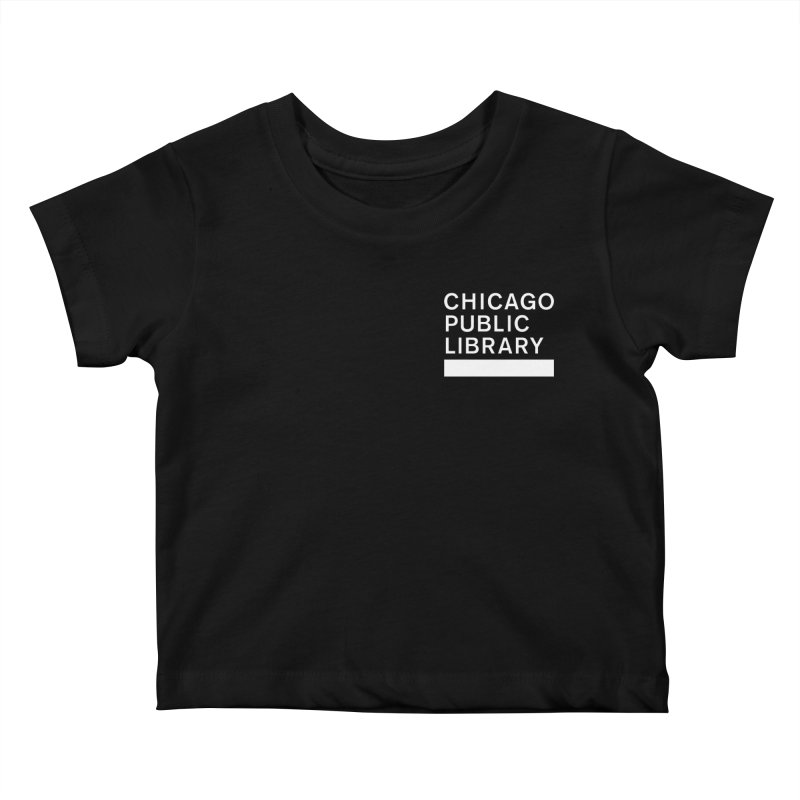 CPL Master Logo Reverse Kids Baby T-Shirt by Chicago Public Library Artist Shop