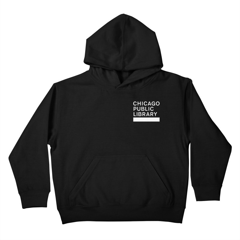 CPL Master Logo Reverse Kids Pullover Hoody by Chicago Public Library Artist Shop