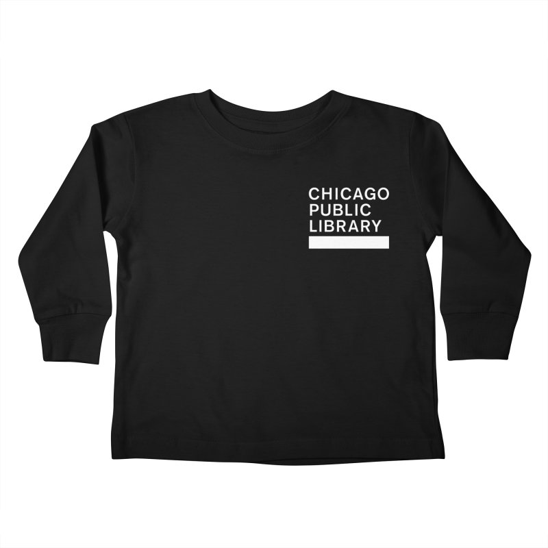 CPL Master Logo Reverse Kids Toddler Longsleeve T-Shirt by Chicago Public Library Artist Shop