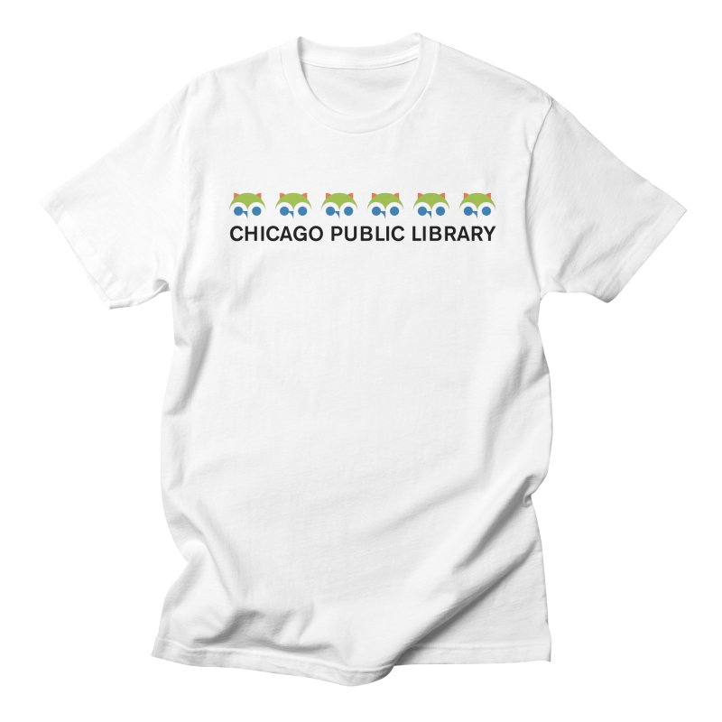 CPL Owl Row Men's Regular T-Shirt by Chicago Public Library Artist Shop