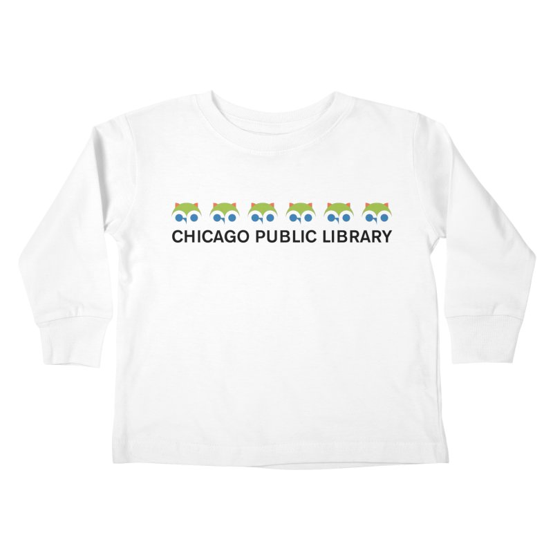 CPL Owl Row Kids Toddler Longsleeve T-Shirt by Chicago Public Library Artist Shop