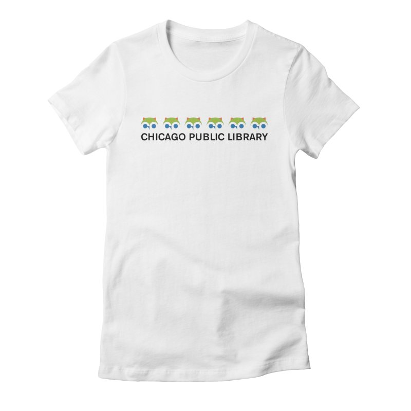 CPL Owl Row Women's Fitted T-Shirt by Chicago Public Library Artist Shop