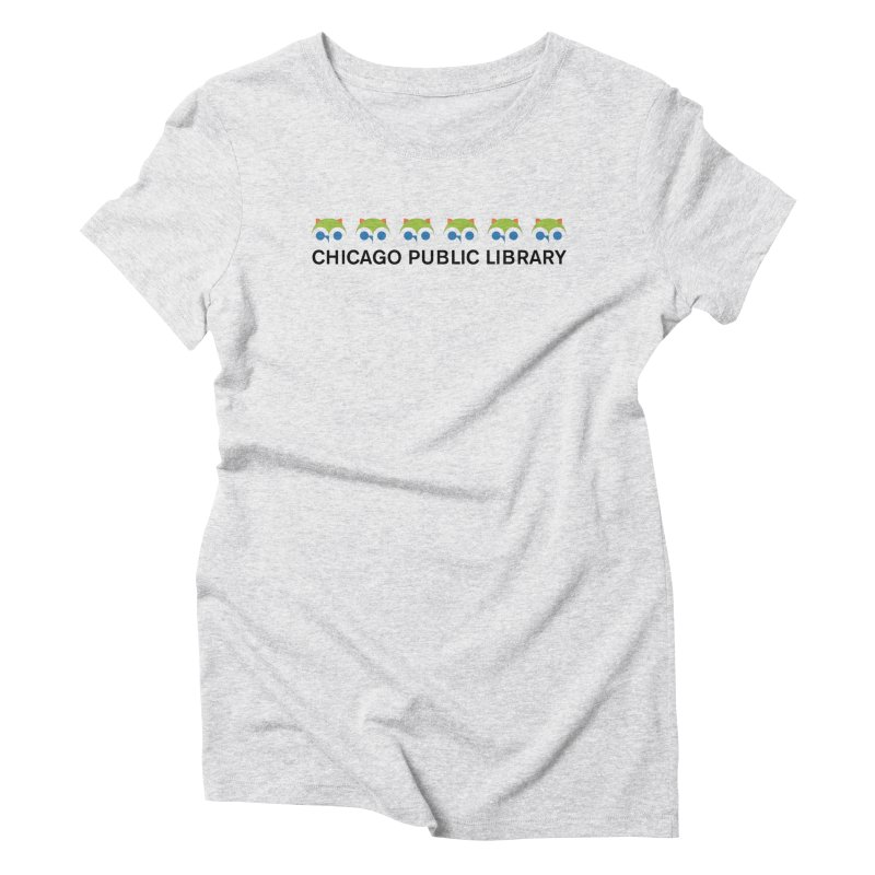 CPL Owl Row Women's Triblend T-Shirt by Chicago Public Library Artist Shop