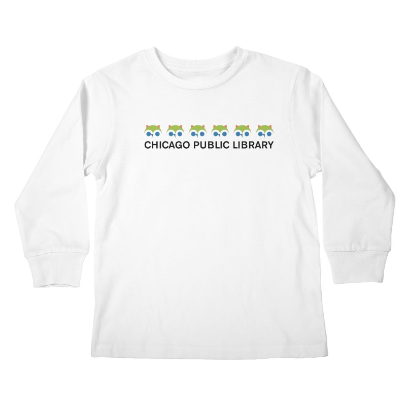 CPL Owl Row Kids Longsleeve T-Shirt by Chicago Public Library Artist Shop