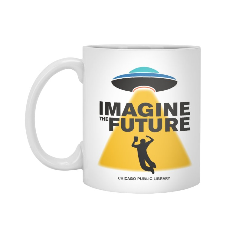 One Book, One Chicago 2018 Imagine the Future Saucer Accessories Mug by Chicago Public Library Artist Shop