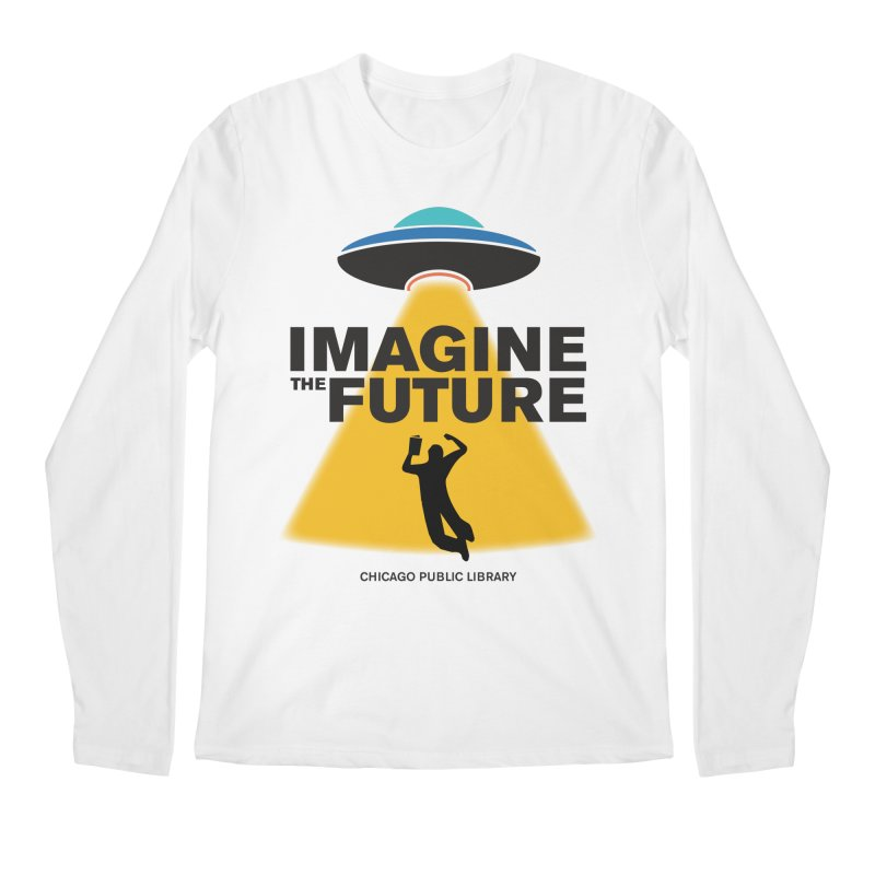 One Book, One Chicago 2018 Imagine the Future Saucer Men's Regular Longsleeve T-Shirt by Chicago Public Library Artist Shop