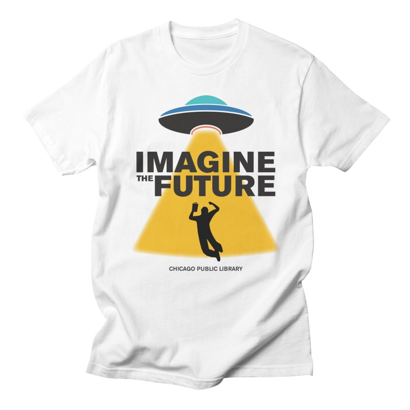 One Book, One Chicago 2018 Imagine the Future Saucer Men's Regular T-Shirt by Chicago Public Library Artist Shop