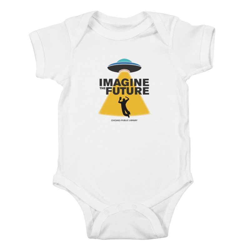 One Book, One Chicago 2018 Imagine the Future Saucer Kids Baby Bodysuit by Chicago Public Library Artist Shop