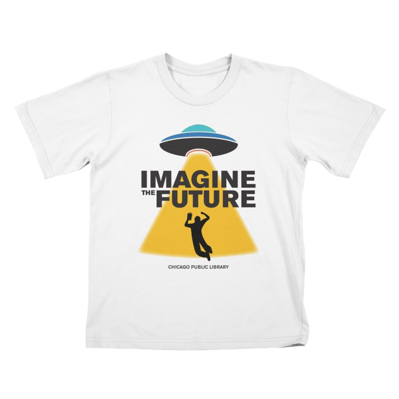 One Book, One Chicago 2018 Imagine the Future Saucer Kids T-Shirt by Chicago Public Library Artist Shop