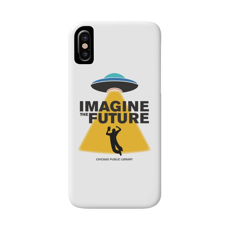One Book, One Chicago 2018 Imagine the Future Saucer Accessories Phone Case by Chicago Public Library Artist Shop