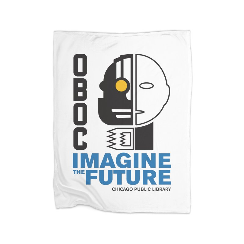 One Book, One Chicago 2018 Imagine the Future Cyborg Home Fleece Blanket Blanket by Chicago Public Library Artist Shop