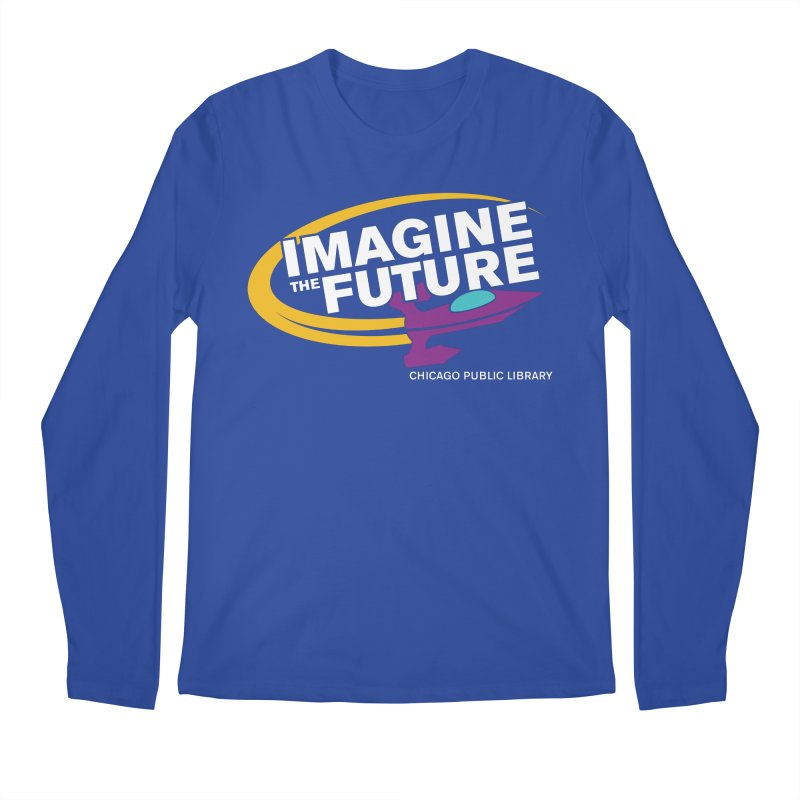 One Book, One Chicago 2018 Imagine the Future Rocket Men's Regular Longsleeve T-Shirt by Chicago Public Library Artist Shop