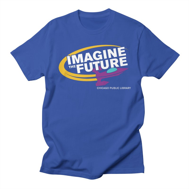 One Book, One Chicago 2018 Imagine the Future Rocket Men's Regular T-Shirt by Chicago Public Library Artist Shop