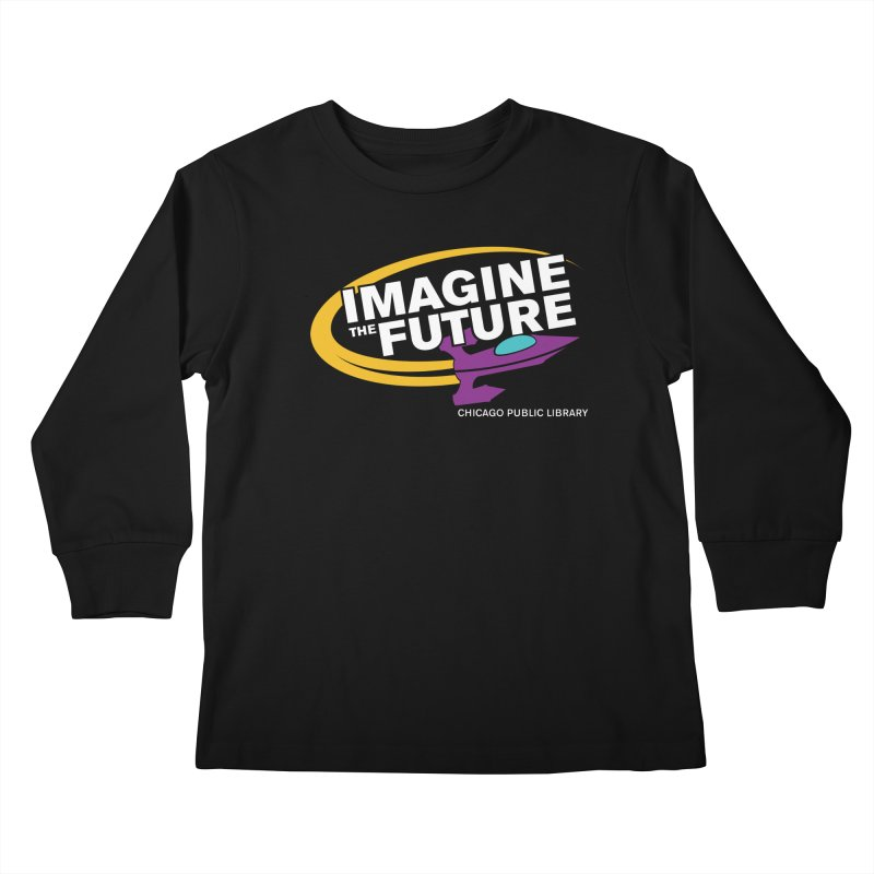 One Book, One Chicago 2018 Imagine the Future Rocket Kids Longsleeve T-Shirt by Chicago Public Library Artist Shop